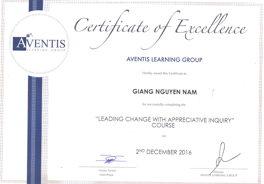 Aventics certificate quynh engineering corp Mr Giang