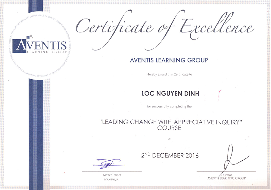 Aventics certificate quynh engineering corp Mr Loc