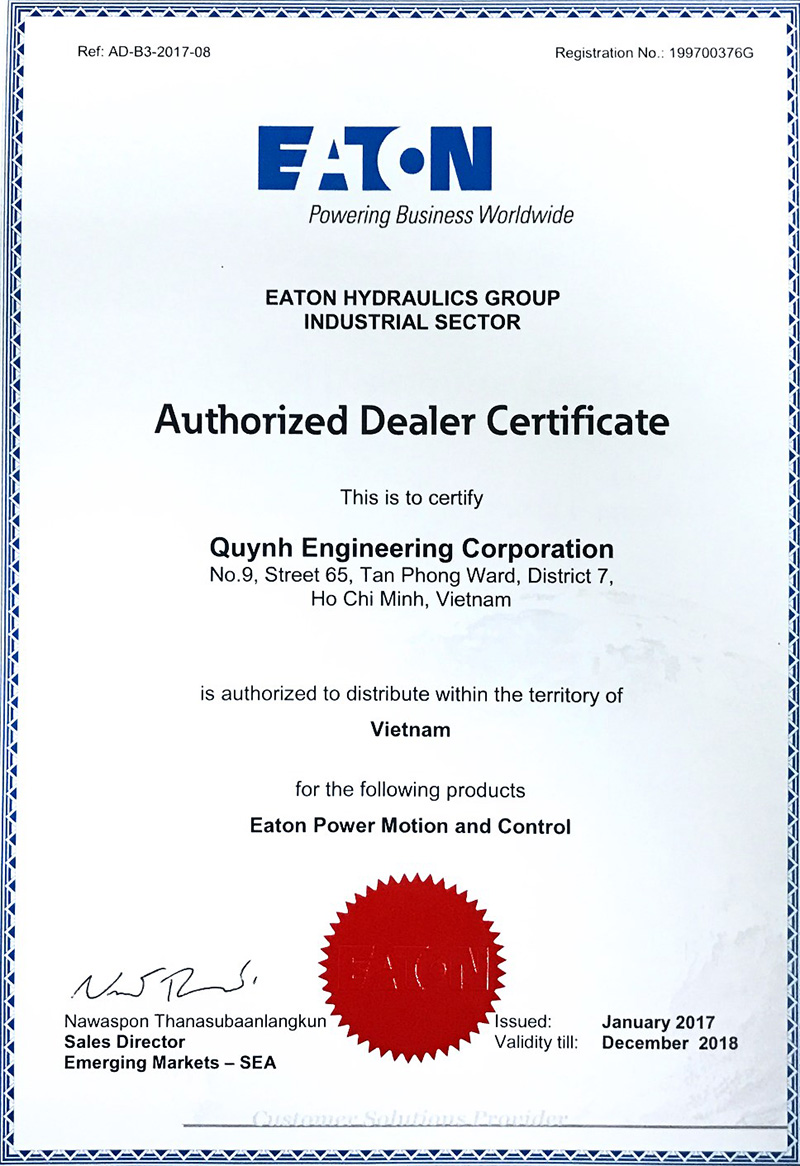 Eaton Certificated quynh engineering copr