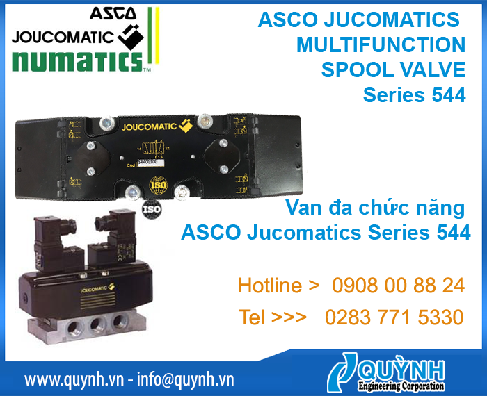 ASCO JUCOMATICS MULTIFUNCTION SPOOL VALVE series 544