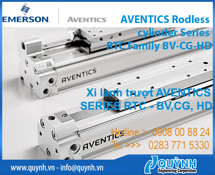 AVENTICS Rodless cylinder Series RTC Family BD, CG, HD